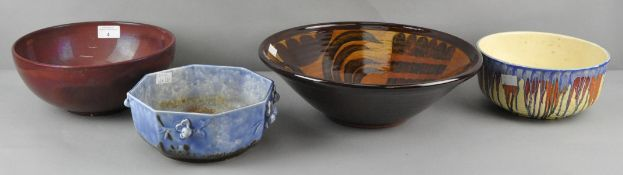 A collection of four ceramic and pottery planters and bowls, to include a Nicholas Hillyard example,