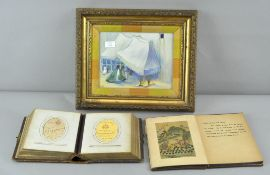 Eilidh, watercolour, in Isdahan, a Victorian photograph album and a Chinese book of pictures,