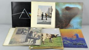 A collection of nine Pink Floyd vinyls to include the Soundtracks from the films More Echoes,