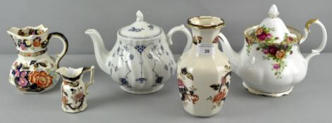 A collection of assorted Ceramics including Masons and Royal Albert old Country Roses Teapots,