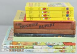 A collection of Rupert books to include early examples