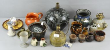 A quantity of Studio pottery, to include Lotus pottery, Danigo and much more,