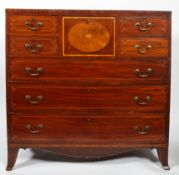 An early 19th century Scolliss mahogany and inlaid boxwood chest of drawers,