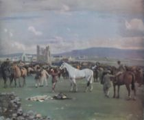 "After Sir Alfred munnings print ""Kilkenny Horse fair"" from an edition of 600 copies"