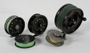 Five fishing reels, including Allcock Aerialite and more,