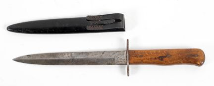 An original Luftwaffe boot knife, incised mark 5,