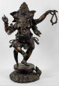 A large Bronze floor standing figure of the Hindu deity Ganesh,