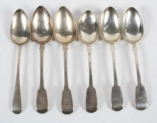 A silver tablespoon, in the plain Old English pattern, by Peter and William Bateman, London 1809,