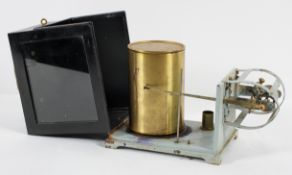 A tin bimetallic thermograph, early 20th century, possibly Short and Mason, M O Pattern,