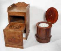 A late 19th century mahogany Commode, concealed within a large sliding drawer,