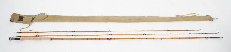 A Hardy Bros (Alnwick) vintage Palakona 'Viscount Grey', three piece split cane fly rod,