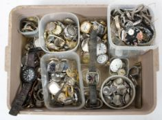 A large quantity of watches to include: Multiple wristwatches of variable styles and designs