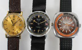 Three vintage gents wristwatches,