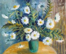 Gwen Johns, 'White Daisies', oil on artist's board, signed lower right, titled and inscribed verso,