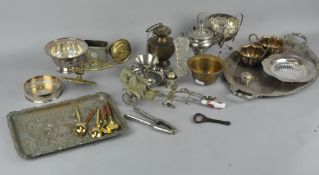 A collection of assorted metal ware,