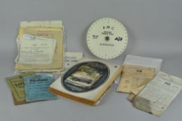 A large group of vintage early 1900's automobilia and motor car ephemera,