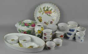 A mixed collection of ceramics,