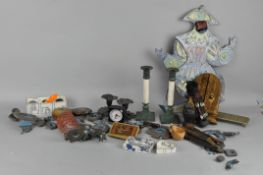 Assorted collectables, including a Marie Bertrand Edith piechaud painted puppet,