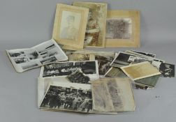 A collection of Military photographs Boer War, WWI and WWII interest,