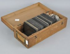 A box of early 1900's colour slides,