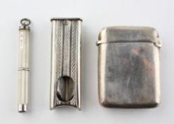A late Victorian silver vesta case,