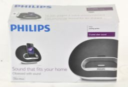 A Philips docking station speaker,