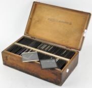 A collection of glass photographic slides,