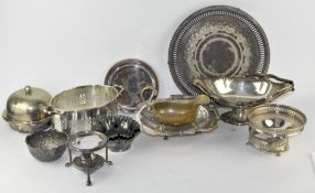 A quantity of silver plate,