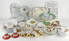 A large collection of ceramics,