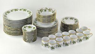 An extensive Swedish porcelain tea and dinner service, ' Hackefors', including dinner plates,