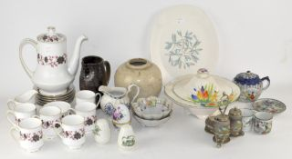 A Paragon coffee set together with other ceramics,
