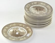 A set of Wedgwood 'American Sailing Ship' plates (18 in total),