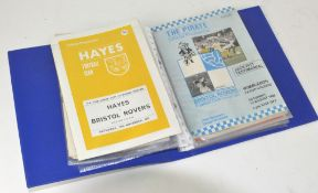 A folder of Bristol Rovers/Bristol City programmes (1961 onwards),