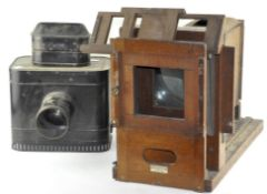 A late 19th/early 20th century magic lantern, by Fraser and Elrick,