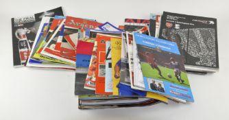80 Football programmes ; finals, semi-finals,