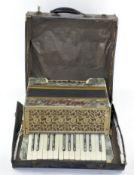 A vintage 'Milang' accordion,