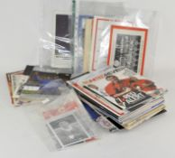 A box of Manchester United items, programmes (inc 1999 Euro Cup Final),
