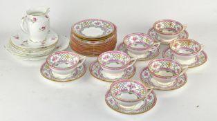 A Minton's 'Queen Trellis' part tea set and more