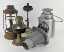 A collection of lamps,