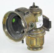 A brass Lucas 'Calua Major' bicycle lamp,