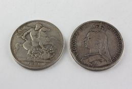Two Victorian silver Crowns,