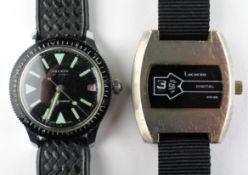 An Oberon 21 jewel wristwatch together with a Lucerne digital Swiss wristwatch