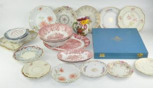 A collection of assorted ceramics, to include Limited edition RAF Spode plate,