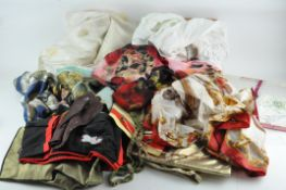 A extensive collection of fabrics,