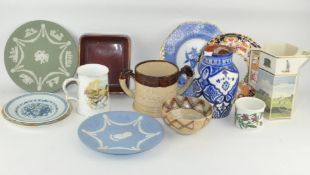 Assorted ceramics, including 'Safi' vase, a two handled Tyg,