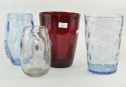 Four large Whitefriars vases, all by William Wilson,