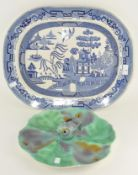 A novelty ceramic oyster dish by Shorter & Sons,