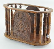 An indian hardwood letter rack,