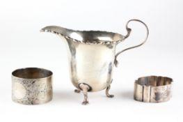 An early 20th century silver cream jug,