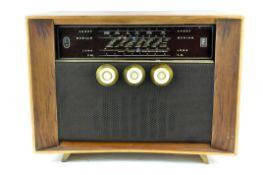A Ferranti radio, mid-century, the first FM radio, of rectangular section,